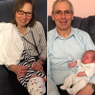 Happiest grandparents